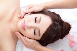 young woman enjoy massage at spa